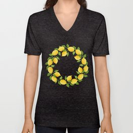 Watercolor Lemons Unisex V-Neck