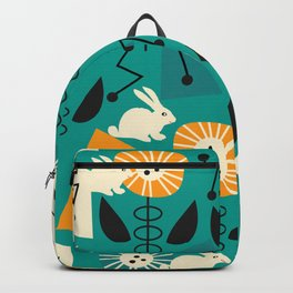 Mid-century pattern with bunnies Backpack