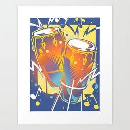 Bongos Art Print