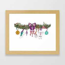 Christmas Garland II Framed Art Print