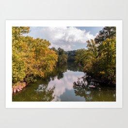 Fall Reflection 2 Art Print