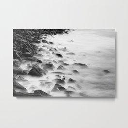 Long Exposure Water (Black and White) Metal Print