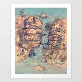 Flowing Canyon  Art Print