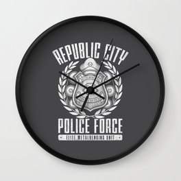 Metal in Enduring Wall Clock