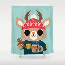 Deer in a Sweater Shower Curtain