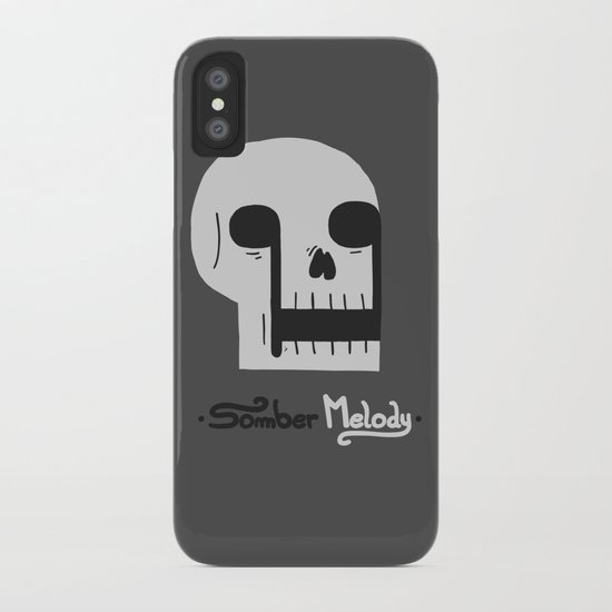 Somber Melody iPhone Case