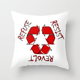 (Re) History in Reverse Throw Pillow