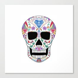 Diamond Sugar Skull Canvas Print