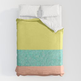Yellow-Pink Duvet Cover