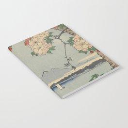 Cherry Blossoms on Spring River Ukiyo-e Japanese Art Notebook
