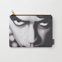 Realism Charcoal Drawing of Tim Curry as Frank N Furter in Rocky Horror Picture Show Carry-All Pouch
