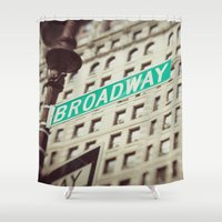 broadway Shower Curtains featuring Broadway  by Carmen Moreno Photography