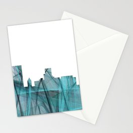 Augusta, Georgia Skyline - Turquoise Storm Stationery Cards