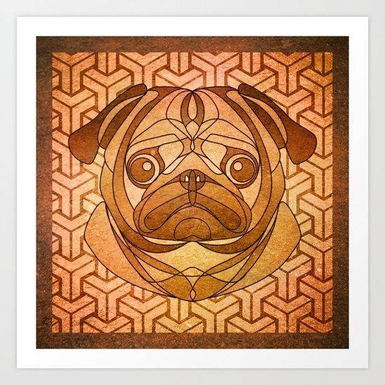 The Toasted Pug Art Print