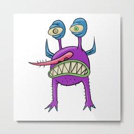 Purple monster Metal Print