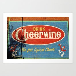 Cheerwine Sign 2 Art Print