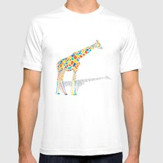 Technicolor Giraffe MEDIUM White Mens Fitted Tee