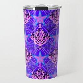 Starfire Kaleidoscope (Cotton Candy Star) Travel Mug