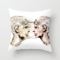 psychology Throw Pillows featuring Love is all ! by teddynash
