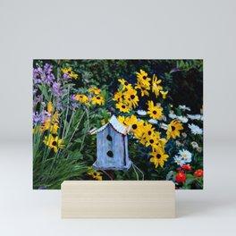 Birdhouse in the Garden Mini Art Print
