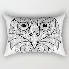 Australian Barking Owl Mandala Rectangular Pillow