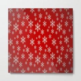 Christmas snow flake pattern Metal Print