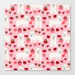 Westie west highland terrier dog breed valentines day cute dog person must have gifts pet portraits Canvas Print