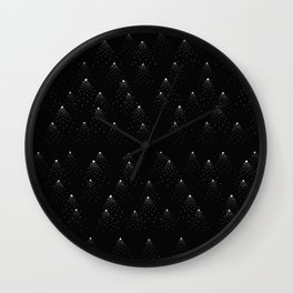 poppy seed dot pattern Wall Clock
