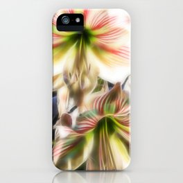 Abstract amaryllis in a garden iPhone Case