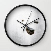 polar bear Wall Clocks featuring Polar Bear by Mark Alder