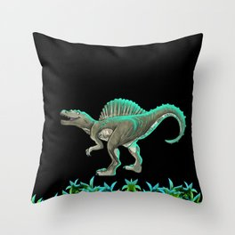 Spinosaurus Dinosaur Throw Pillow