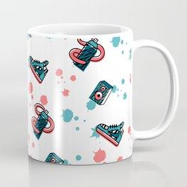 Retro Graffiti Pattern Coffee Mug
