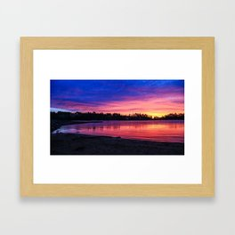 Lake James, Marion, NC Sunrise Framed Art Print