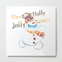 Jolly Xmas Metal Print
