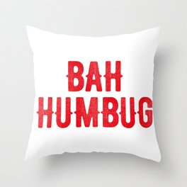 Bah Humbug (red) Throw Pillow