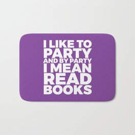 I Like to Party Read Books (Purple) Bath Mat