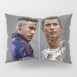 neymar jr and cristiano ronaldo Pillow Sham