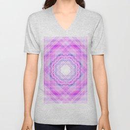 11 E=BlurryPink Unisex V-Neck
