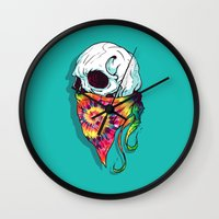 hipster Wall Clocks featuring Hipster by Steven Toang