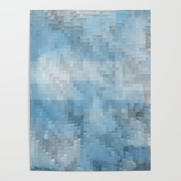 Abstract blue pattern 3 Poster