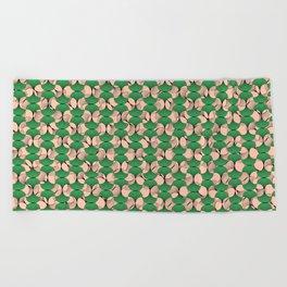 KEYAH - Green & pink Beach Towel