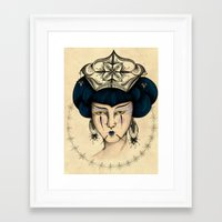 asia Framed Art Prints featuring Asia by Priscila Floriano