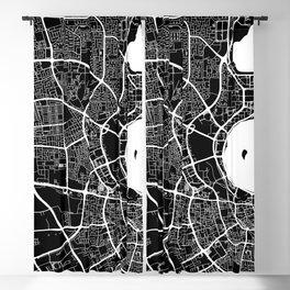 Street MAP Doha // Black&White Blackout Curtain