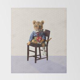 Tiny Tiger Valentine Throw Blanket