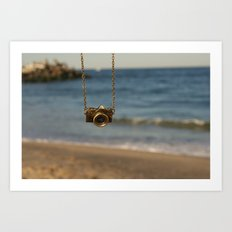 Camera over the ocean Art Print