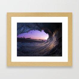 lavender sunrise Framed Art Print
