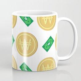 Korean won pattern background Coffee Mug