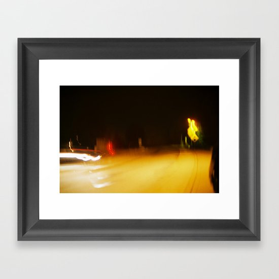 Yellow Lights Framed Art Print