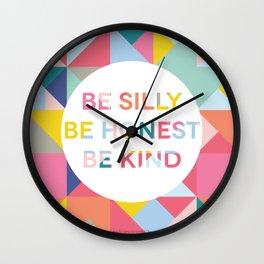 Be Silly Bright & Happy Wall Clock
