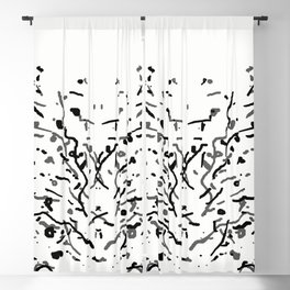 Twiggy Tree Ink Line Drawing Blackout Curtain